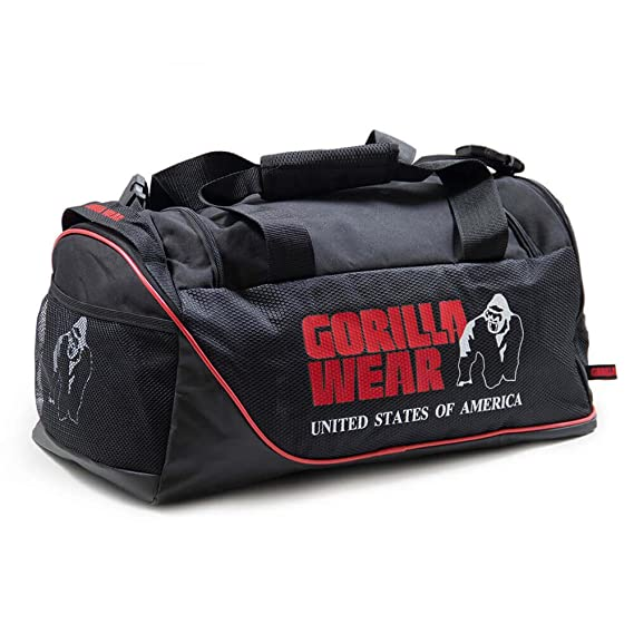 7a66315c59b7 Gorilla Wear Jerome Gym Bag - Black Red  Amazon.co.uk  Clothing