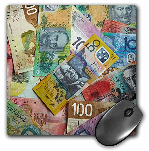 Price comparison product image Foreign currency, Australian, Canadian, and New Zealand dollars - Mouse Pad, 8 by 8 inches (mp_187883_1)