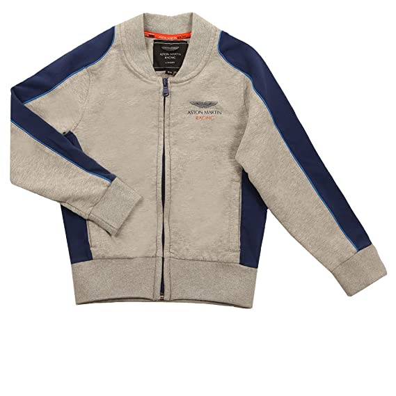 15a62db2 Hackett - Boys AMR Full Zip Sweat, Grey: Amazon.co.uk: Clothing