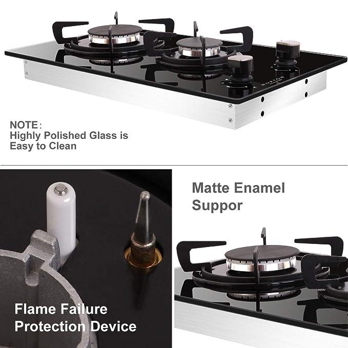 Amazon.com: NOXTON - Cocina de 11.8 in con gas Domino ...