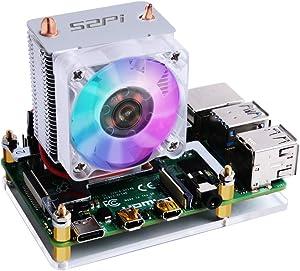 Geekworm Raspberry Pi Fan, Raspberry Pi 4 Ice Tower Cooler/Pi 4 CPU Cooling Fan with Heatsinks Compatible with Raspberry Pi 4 Model B/3B+/3B