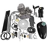 "MOTOOS 80CC 26"" 28"" Bike Bicycle Motorized 2 Stroke Cycle Petrol Gas Engine Kit Set(Silver)"