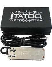 ITATOO Tattoo Foot Pedal for Tattoo Power Supply Tattoo Machine Stainless Steel Heavy Duty Tattoo Foot Switch Pedal 5.9 FT Pedal Power Cord N1007-31