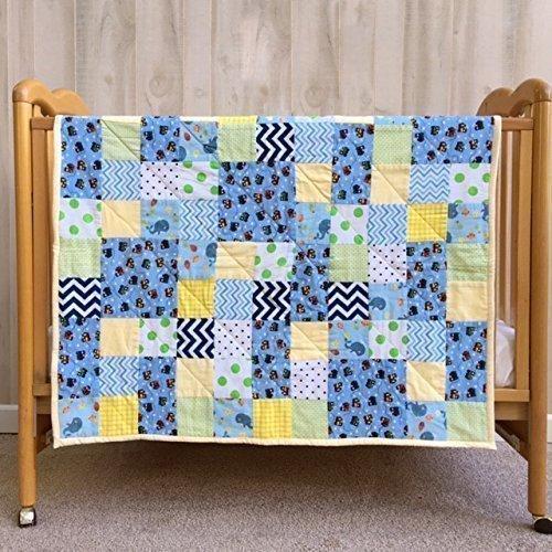 Baby Boy Quilt Newborn Boy Gift Quilted Blanket
