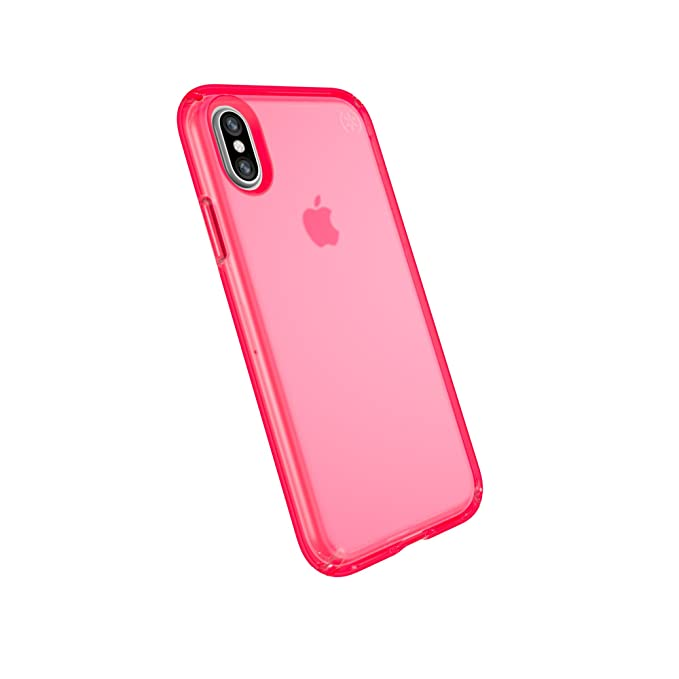 best loved 140ba 5708a Speck Products Compatible Phone Case for Apple iPhone XS and iPhone X,  Presidio NEON Clear Case, Shocking Pink Matte