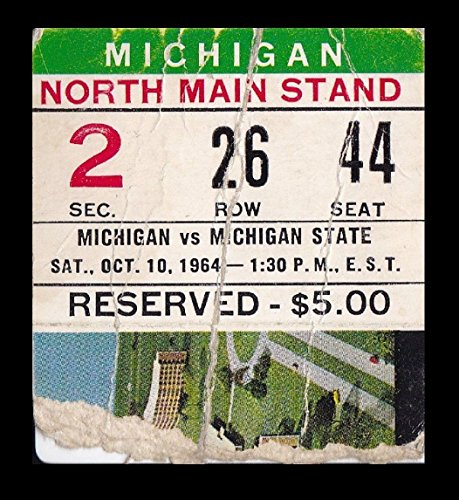 1964-Michigan-v-Michigan-State-Football-Ticket-101064-Spartan-Stadium-27579