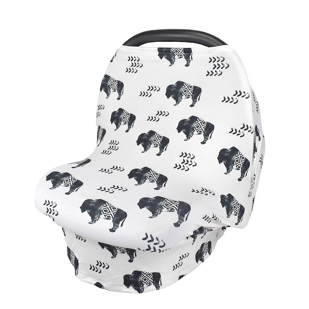 Cow Ultra Soft Breastfeeding Scarf Nursing Cover Baby Car Seat Covers /& Infant Stroller Sunshade Cover and Car seat Canopy