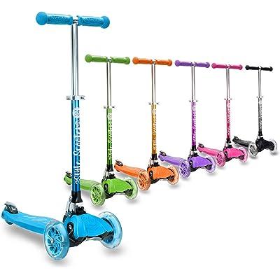3StyleScooters® RGS-1 Patinete Scooter Tres Ruedas para Niños Pequeños Niños de 3 Años o Más con Luces LED en Las Ruedas, Diseño Plegable, Manillar Ajustable