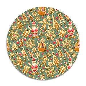 Feimao - Cojín Redondo Antideslizante para Silla de Oficina (38 cm), diseño de Pan de Jengibre