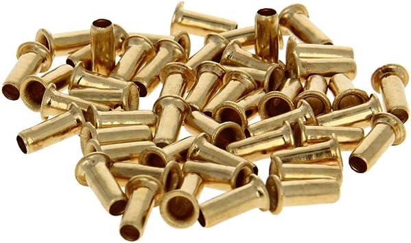 4mm x 10mm Through Hole Copper Hollow Rivets Grommets Circuit Board PCB 200Pcs