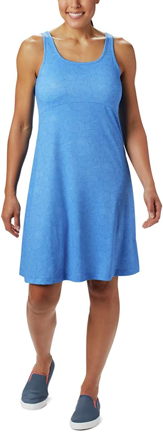 Stormy Blue X-Large Columbia Womens Freezer Iii Dress with Wicking /& Sun Protection Fabric