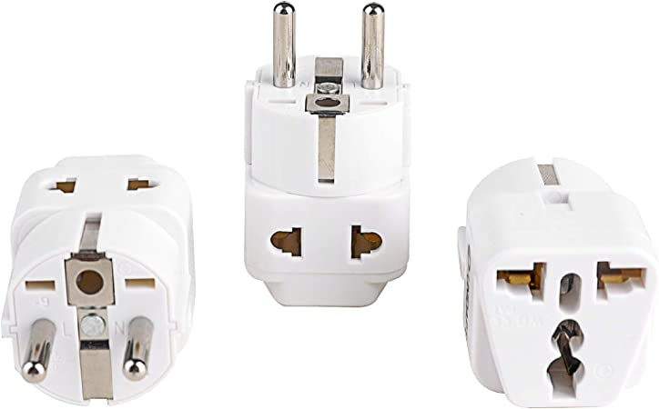 Mains Inlet Electric Hook-up 3-pin Euro European Continental Converter Lead