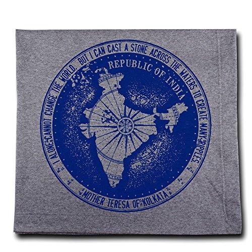 Message Brands Mother Teresa Change the World Passport Stamp Blanket by Message Brands