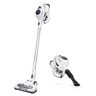 MOOSOO Cordless Vacuum Cleaner, 2 in 1 Stick Vacuum with 15Kpa Strong Suction, Lightweight Bagless Handheld Vacuum for Floor Carpet Car Pet Hair, XL-618B