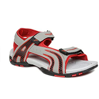 3c04bdaf3be5 PARAGON Stimulus Men s Grey   Red Sandals  Buy Online at Low Prices in  India - Amazon.in