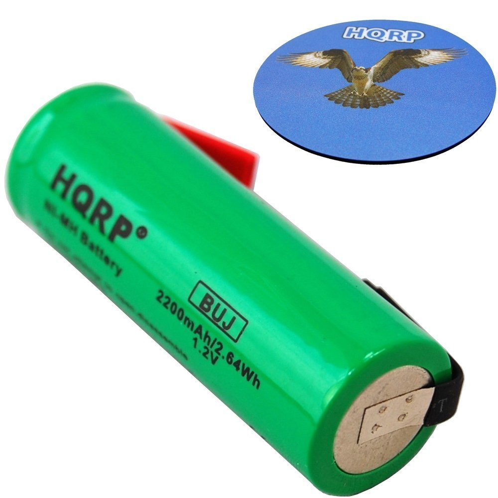 HQRP Battery for Braun Oral-B ProCare Triumph Toothbrush Repair NiMH 1.2V, 5466 5469 5470 5471 5472 5473 Toothbrush Repair + HQRP Coaster 887774707151369