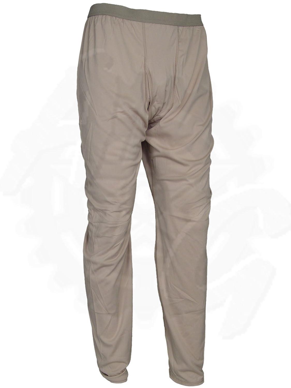 Polartec Silkweight Desert Tan Bottoms Base Layer Long Underwear Drawers, Made in USA Made in USA (Large Long)