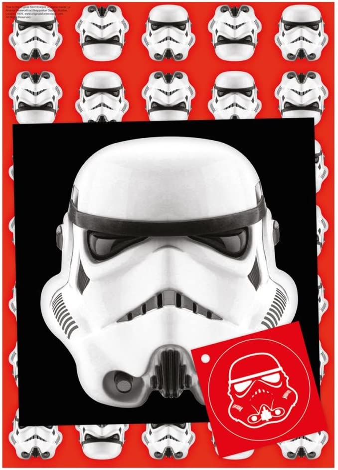 The Original Storm Trooper Wrapping Paper Tag /& Blank Card