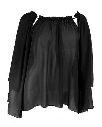 f411d92208ebda ELAN Women s Chiffon Tunic Top with Adjustable Cut Out Neckline at Amazon  Women s Clothing store