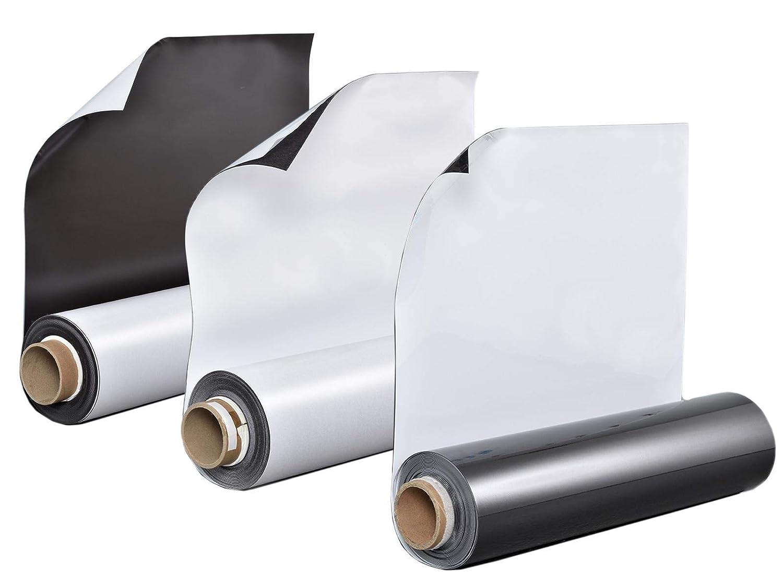 Whiteboardfolie Eisenfolie Ferrofolie beschreibbar in weiß 0,6mm x 50cm x  50cm