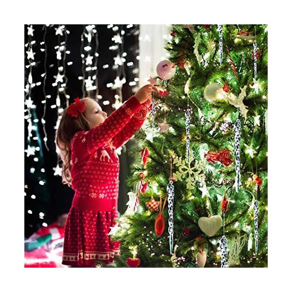 LIHAO 48 pz Ghiaccioli di Natale Acrilico Trasparente Pendenti per Albero di Natale Decorazioni Natalizi Coni Gelato in Plastica (4 Misure, 12 pz per Dimensione) 3 spesavip
