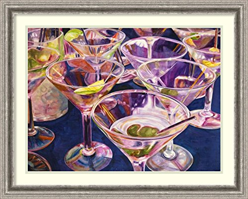 Framed Art Print 'Shaken not Stirred' by Karen Honaker