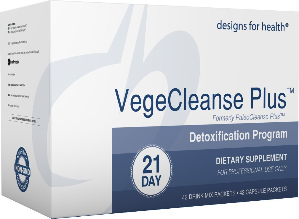 Designs for Health Cleanse Program - VegeCleanse Plus 21 Day Detox Program (42 Protein Powder + 42 Pill Packs)