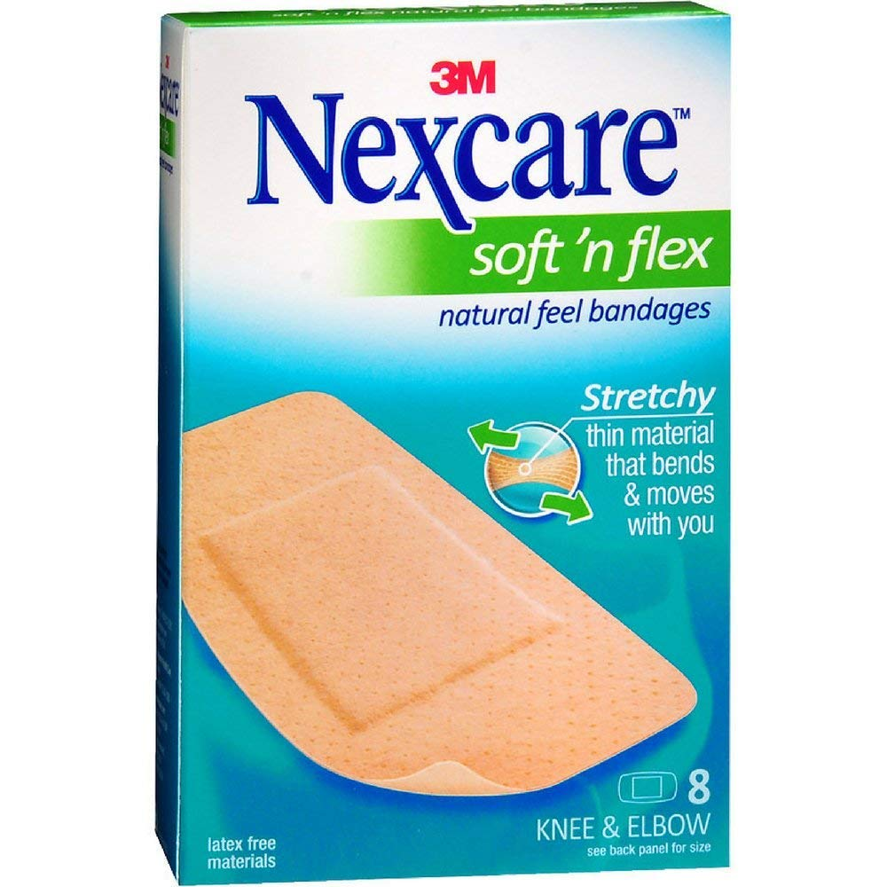 Nexcare Soft 'n Flex Bandages, Breathable, 8-Count Packages (Pack of 6)