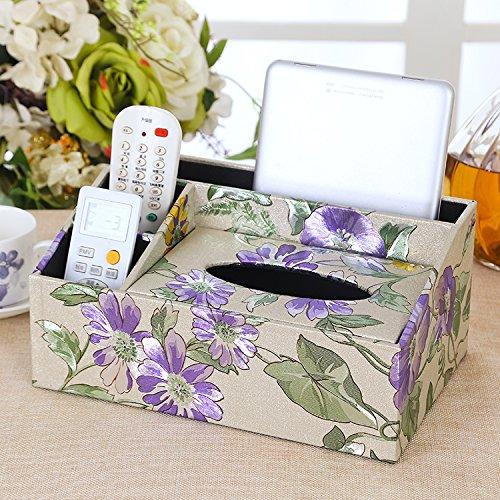 LWJgsa New Multifunctional Leather Paper Towel Paper Box Living Room Originality Remote Controller Paper Napkin Box 26×17×12Cm M