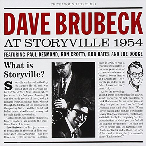 Dave Brubeck At Storyville 1954 by Be Good