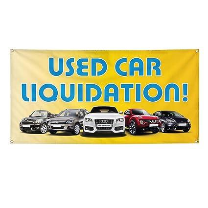 Amazon com : Vinyl Banner Sign Used Car Liquidation! #1