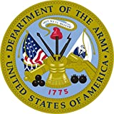 1 Set Howling Fashionable United States Department of The Army Stickers Sign Indoor Military One-Side Printed Size 3.5