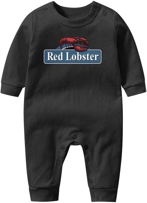 Red-Lobster-Logo-Sign Baby Boys Girls Long Sleeve Baby Onesie Romper Jumpsuit
