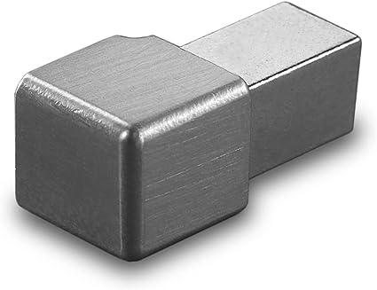 HORI/® Fliesenprofil I Winkelprofil aus Edelstahl St/ück L/änge /á 2,50 m I H/öhe 11 mm I geb/ürstet