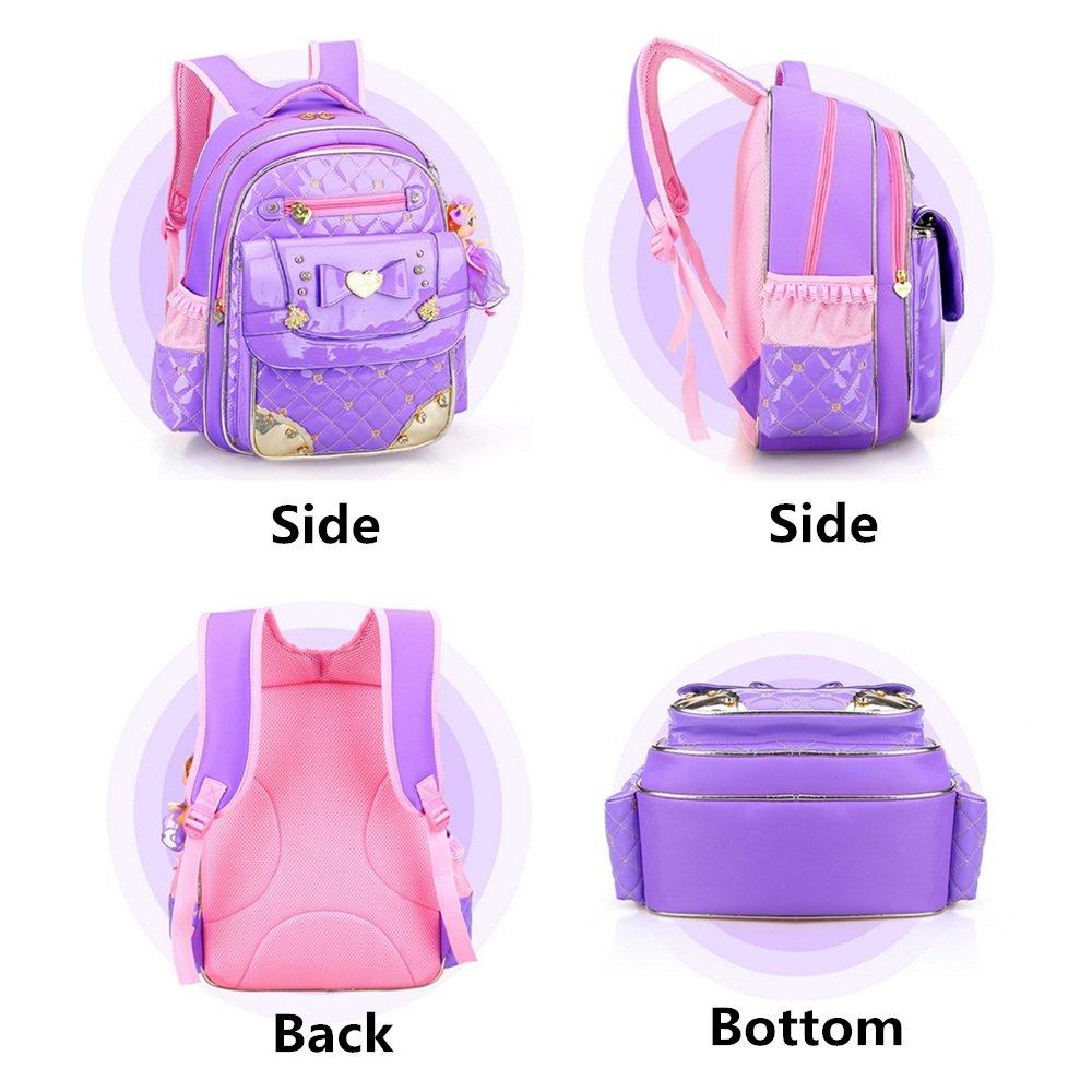 Fanci Cute Bowknot Rhinestone Kids School Backpack Sweet Princess Doll Waterproof Primary School Book bag