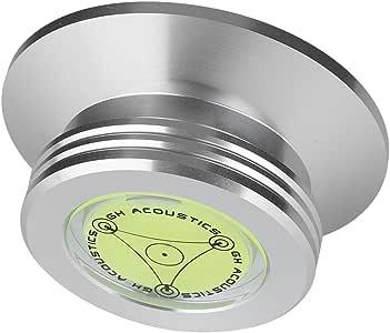 Zerone Tocadiscos Disco de Registro de Peso 50//60/HZ Nivel de Burbuja detecci/ón velocidades Tocadiscos Disco estabilizado para LP r/écord Player