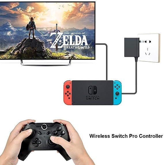 JFUNE Controlador Inalámbrico Mando para Nintendo Switch, Switch Pro Controller Wireless Bluetooth Gamepad DualShock Vibration: Amazon.es: Electrónica