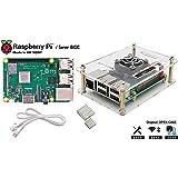 Raspberry Pi 3 Model B+ Server-BASIC(基板,ケース,Gigabit LANケーブル,ヒートシンク, 取説 故障時1年間交換可)