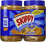 Skippy Extra Crunchy Peanut Butter Super Chunk Twin Pack Two 48 Ounce Jars
