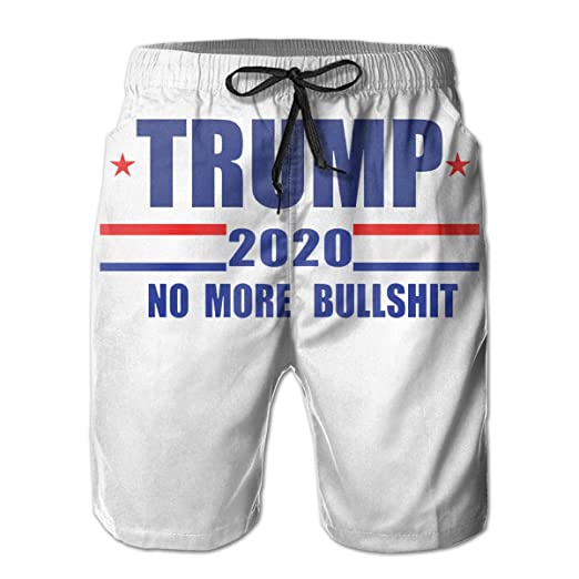 Summer Shorts 2020.Amazon Com Trump 2020 No More Bullshit Men S Summer Casual