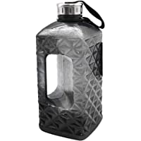 2.2L Plastic Water Bottle Large Capacity with Carrying Loop BPA Free Leakproof Jug Container Resin Fitness for Camping Training Bicycle Gym Outdoor Sports -Bottle (Black)