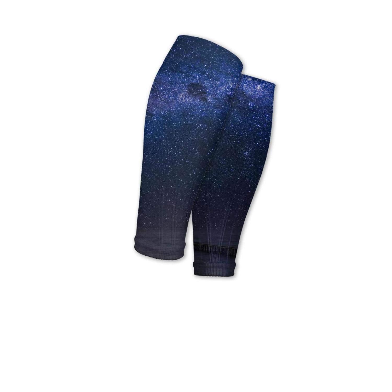 Smilelolly Milky Way Calf Compression Sleeves Helps Shin Splint Leg Sleeves for Men Women