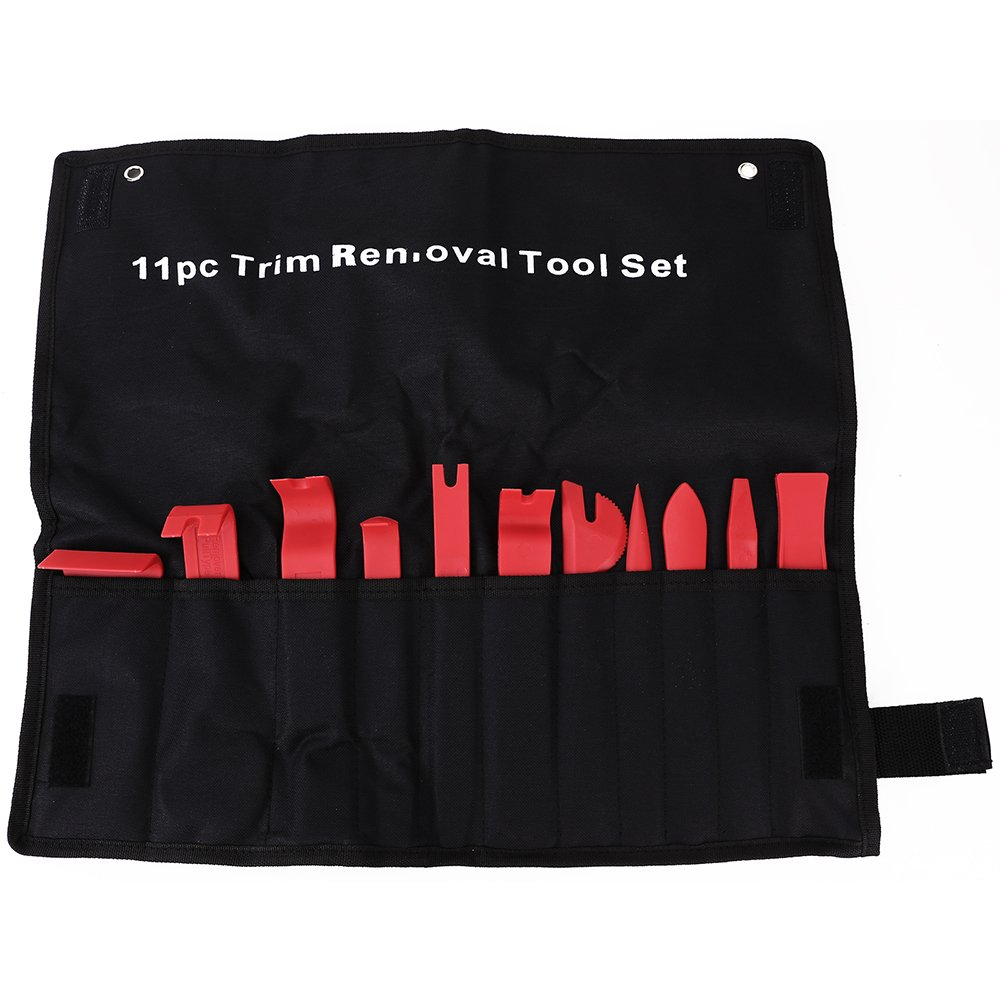 11in1 Automotive Car Door Panel Clip Trim Remover Removal Pry Tool Kit w Bag