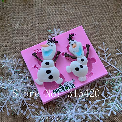 1 piece Nicole F1066 Christmas Snowman Silicone Mold Cake Decoration Fondant Silicone Mould