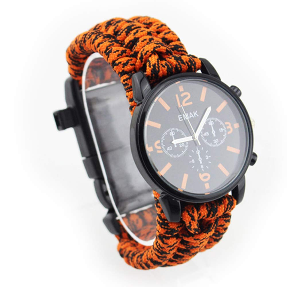 SPORS Men's Waterproof Electronic Watch, Multi-Functional Fashion Outdoor Sports Watch, high-end Men's Smart Watch-Orange Camouflage by SPORS