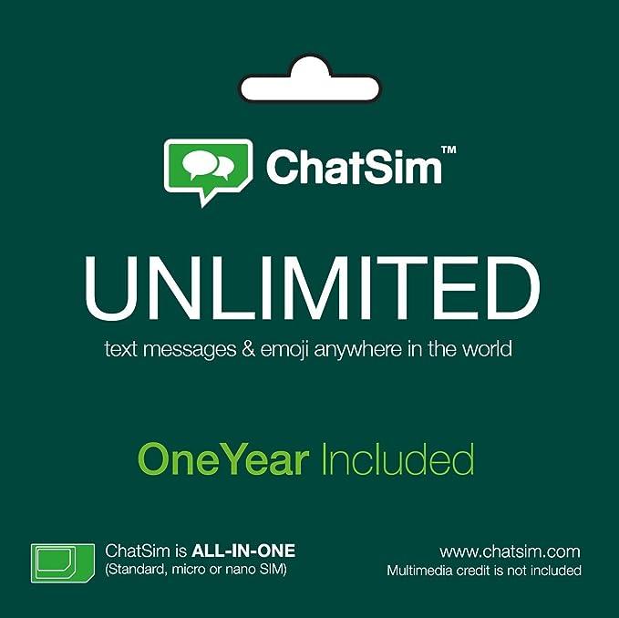 Amazon.com: ChatSim–Global tarjeta SIM a ...
