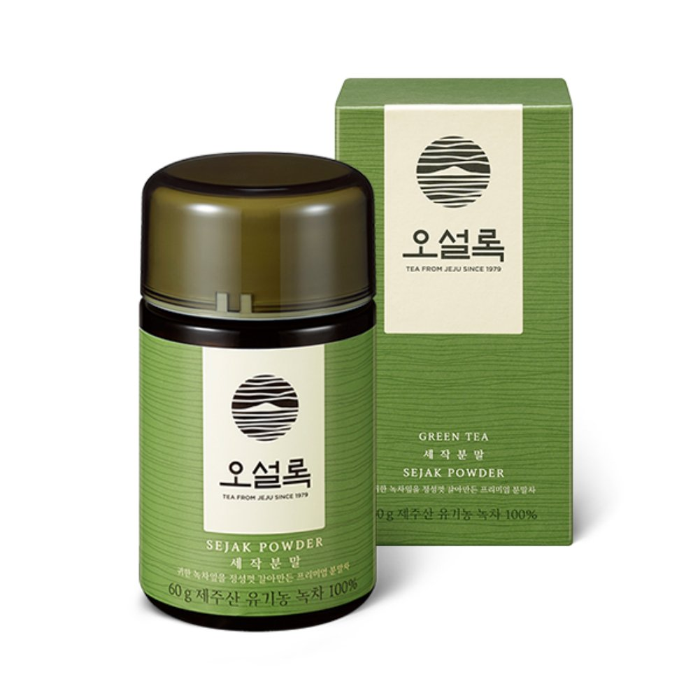 Matcha 100% Organic Green Tea Powder 60g(2.12oz) (Korean Master's Premium Jeju Sejak Powder) Superior Quality Culinary Grade - Perfect for Baking Smoothies Latte Gluten & Sugar Free by O'sulloc