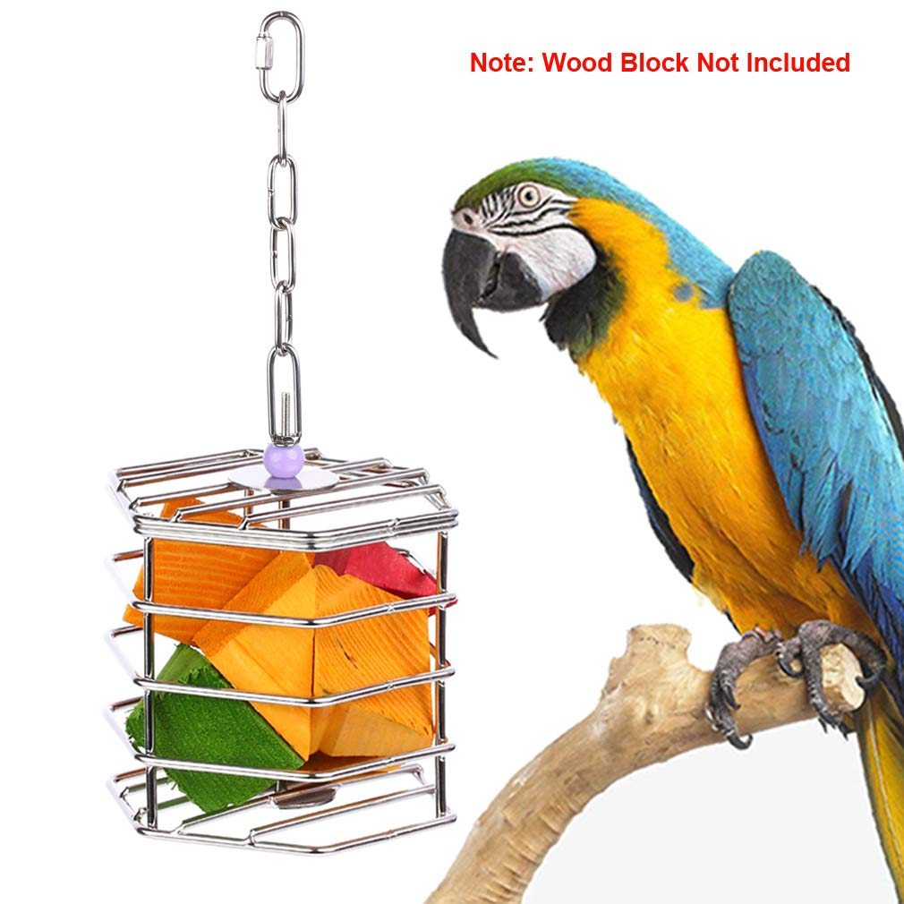 KINTOR Baffle Cage,Parrot Stainless Steel Foraging Toy for African Grey Amazon Cockatoos Eclectus Large Conures Macaw (Large) by KINTOR