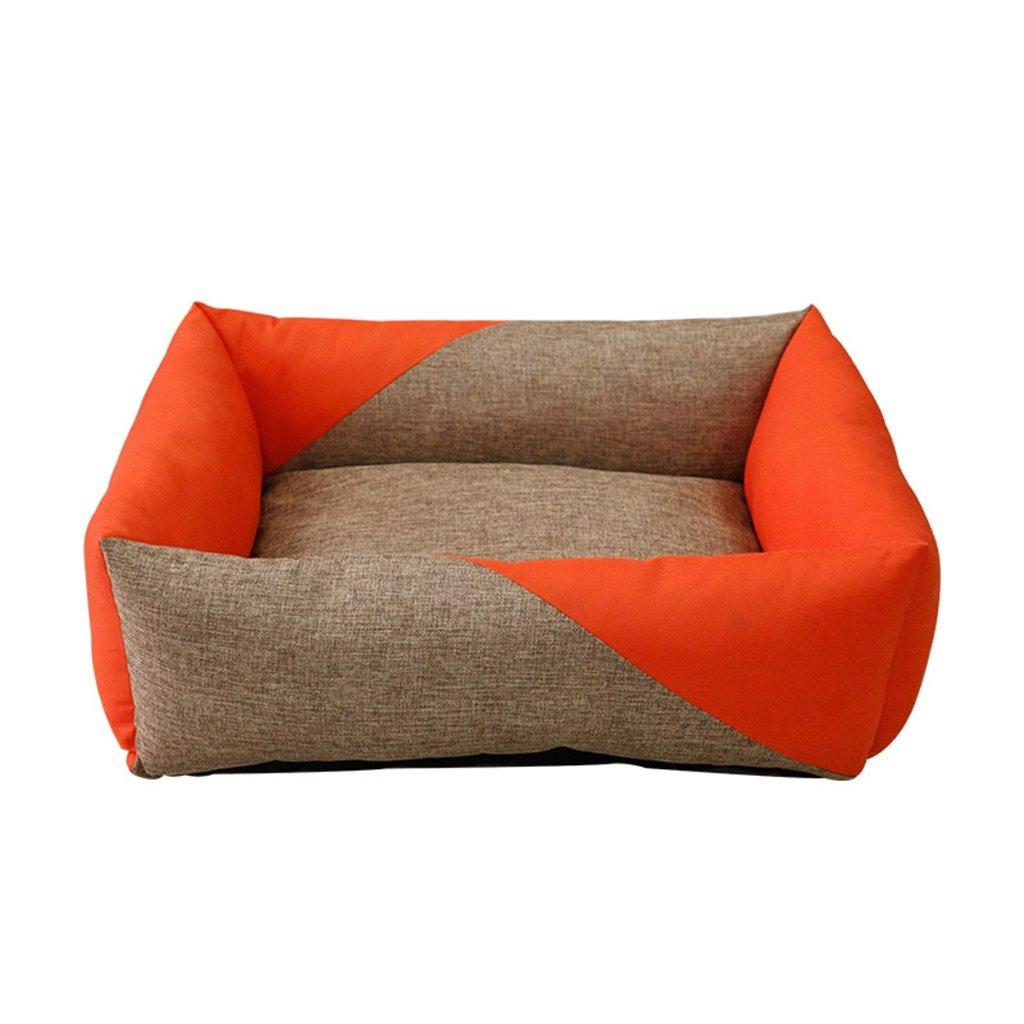 orange 75cm orange 75cm Summer pet nest removable cleaning ice silk husky soft breathable dog cave pet supplies ( color   orange , Size   75cm )