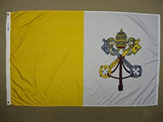 product image for Annin Flagmakers Model 93400 Papal 5x8 ft. Nylon Dyed Design Flag, 100% Made in USA